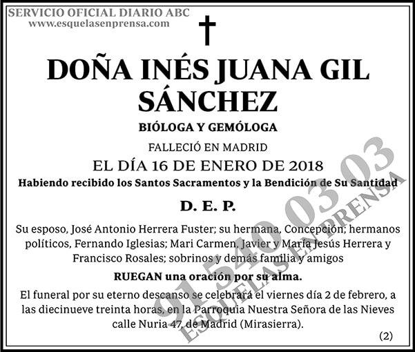 Inés Juana Gil Sánchez